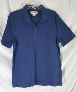 An-Original-Penguin-by-Munsingwear-Mens-XL-Blue-Polo-Shirt-Heritage-Slim-Fit