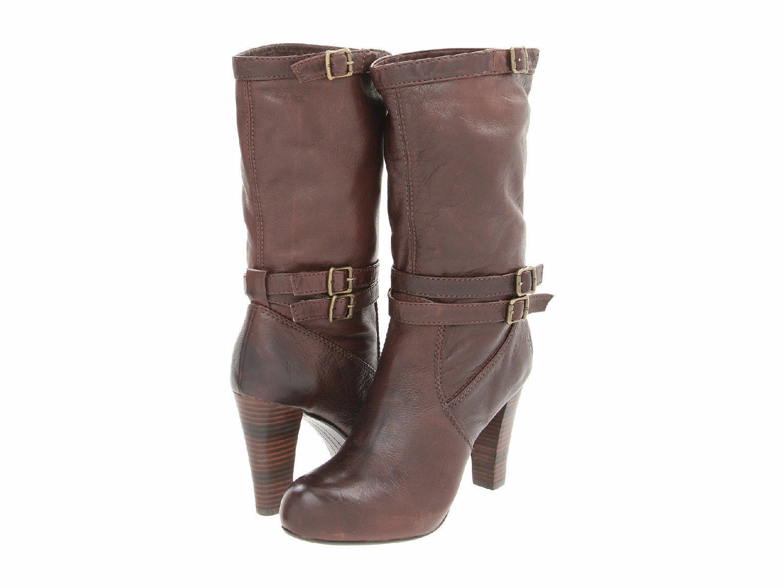 FRYE MIRANDA SLOUCH DARK BROWN VINTAGE LEATHER BOOTS SHOES 268.00 11