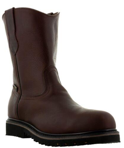 Homme Bordeaux Steel Toe Durable construction work boots semelles en caoutchouc antidérapante