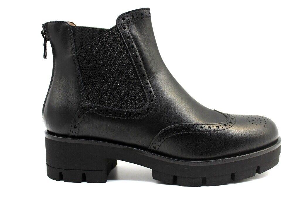 schwarz Giardini A909784D Schwarz Stiefeletten Damenschuhe Stil Englisch