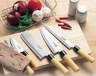 Kakusee: Kitchen Chef's Knives 5pcs Set Sashimi Nakiri Santoku Petty Deba New
