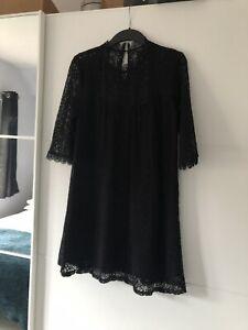 Black-Topshop-Lacy-Dress-Size-10