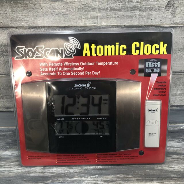 Skyscan Atomic Clock W Remote Wireless, Best Rated Atomic Clock With Indoor Outdoor Temperature