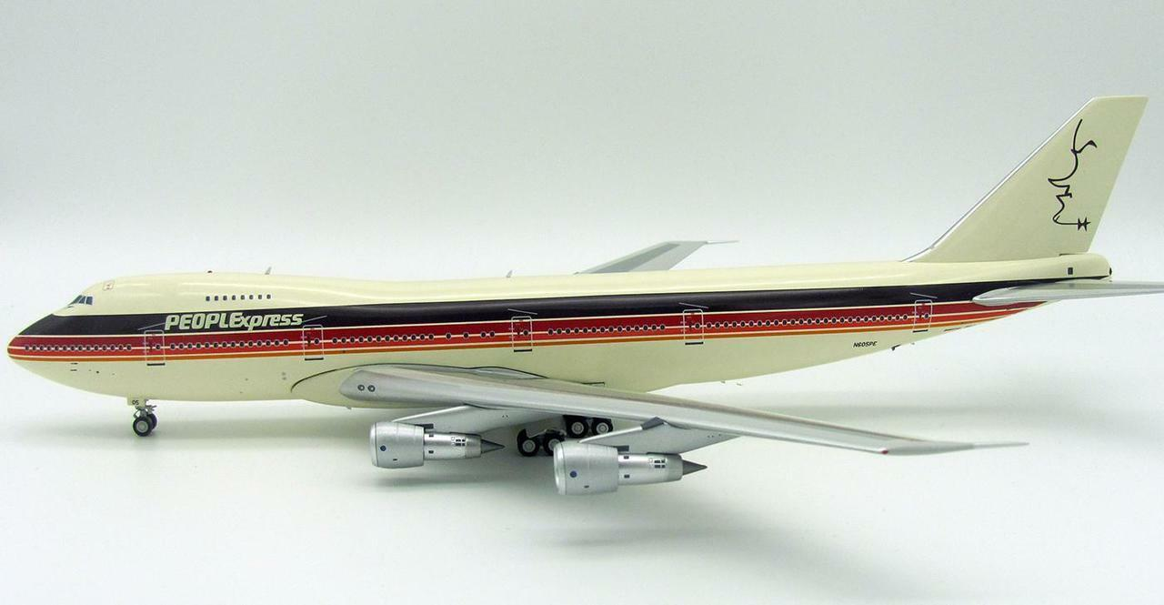 INFLIGHT200 IF742PE001 1/200 Peoplexpress Bob Hope Boeing 747-200 N605pe W/