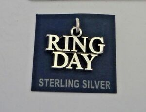 Sterling Silver 13x17mm Texas A&M University ATM Aggie Senior say Ring Day Charm