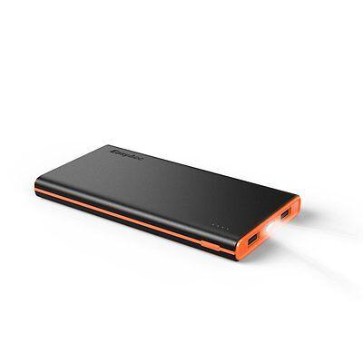 EasyAcc Smart 10000mAh Powerbank Externer Akku Portable Ladegerät Schwarz/Orange
