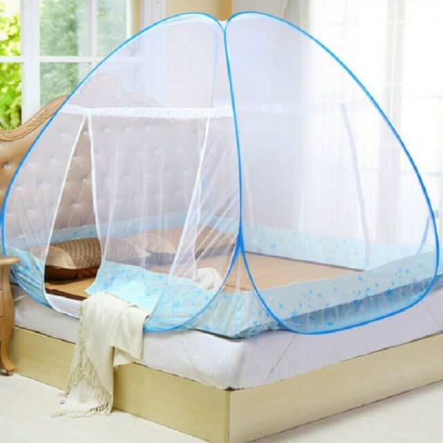 Folding Portable for Baby Adults Trip Pop-Up Mosquito Net Tent Canopy for Full Beds Self-Standing Tent for Camping Green /& Full Crib Netting