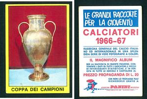CAMPIONE-EUROPEO-Club-Cup-ed-PANINI-ORIGINALE-1966-67-Nuovo-di-zecca
