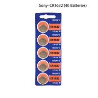 New, Sony Cr1632 3 Volt Lithium Coin Battery (40 Batteries)