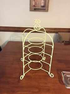 Image is loading vintage-4-tier-display-stand-made-for-small- & vintage 4 tier display stand made for small tea cups and saucers or ...