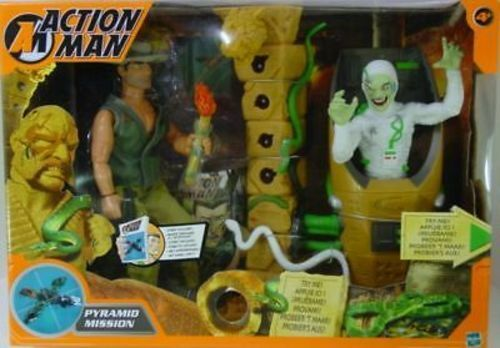 ACTION MAN -  PYRAMIDE MISSION  - 2 personaggi-Hasbro