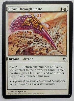 Plow Through Reito FOIL Saviors of Kamigawa NM-M White Common MTG CARD ABUGames