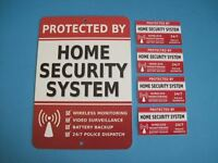 Home Security Alarm System Yard Sign & 4 Window Stickers - Stock 703