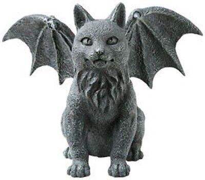 Winged Cat Gargoyle #6321 Wiccan Pagan Goth Decor