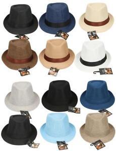 Sommerhut-Panamahut-Strohhut-Trilby-Hut-Gartenhut-Hutband-Herren-Damen-Classic