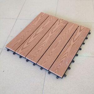 Mattonelle mattonella cm 40x40 in wpc pavimento legno for Piastrelle plastica giardino leroy merlin
