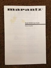 Marantz MA500 Mono Amplifier Original Owners Manual  7 English Pages