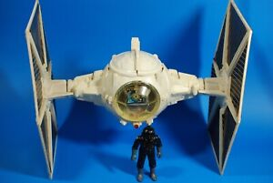 VINTAGE-STAR-WARS-COMPLETE-IMPERIAL-WHITE-TIE-FIGHTER-KENNER-FIGURE-WORKS
