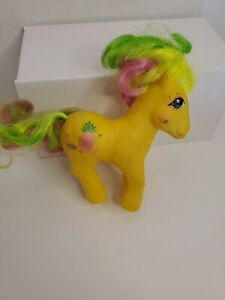 Vintage My Little Pony MLP Tropical Ponies Tootie Tails G1 1987 Yellow Pineapple