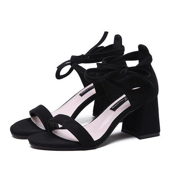 Sabot ciabatte 7 cm eleganti  noir  tacco quadrato sandali pelle sintetica 9956
