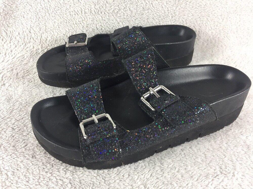 Ash - Black Glitter Flip Flop Sandals Uk 5 Eu 38