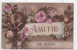 CPA-76000-ROUEN-Amitie-de-Rouen-enfant-fleurs