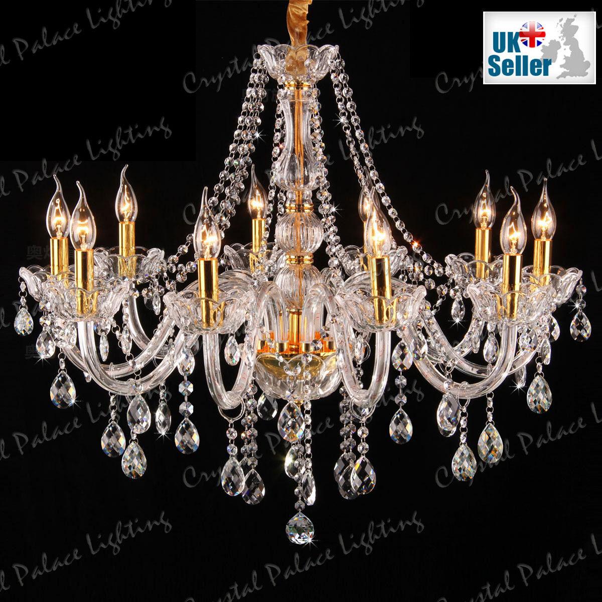 Clair Doré K9 Cristal Lustre 6, 6, 6, 8, 10 Lumières Bougie bras pendentif lampe   Le Roi De La Quantité  b70428