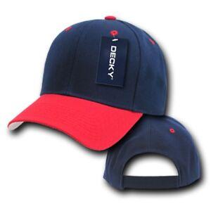 Navy Blue & Red Blank Solid Adjustable Tennis Baseball ...