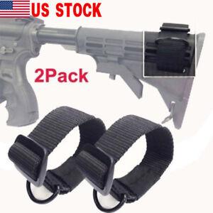 2X-Universal-Rifle-Gun-Shotgun-Stock-Single-Point-Sling-Loop-Adapter-Strap-US