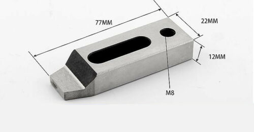 CNC Wire Cut EDM Stainless Steel Jig Holder For Clamping 70 x 22 x 12mm M8 Screw