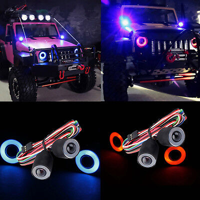 LED Headlight Lights Lamp for 1//10 RC Crawler Car Axial SCX10 D90 Jeep Wrangler