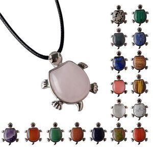 Natural-Crystal-Cute-Tortoise-Hawaii-Surfer-Sea-Reiki-Turtles-Pendant-Necklace