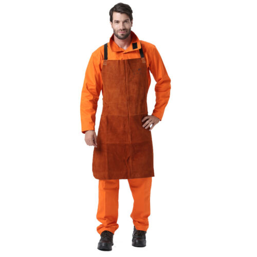 "AP-6300 42/"" Fire Resistant Cowhide Leather Welding Welder Protection Bib Apron"