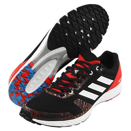 newest collection c41a2 0b045 Adidas Adizero Rc Para hombres Zapatos para Correr Correr Correr Negro Rojo  Entrenamiento Gimnasio Caminar Boost