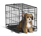 Small Dog Crate Cage Pet Single Door Training Iron Wire Travel Cat Puppy 18