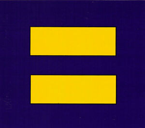 Equality symbol equal rights marriage equality bumper for 1 plus 1 equals window
