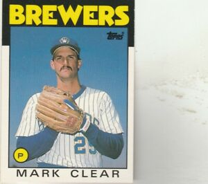 FREE-SHIPPING-MINT-1986-Topps-Traded-25-Mark-Clear-Brewers-PLUS-BONUS-CARDS