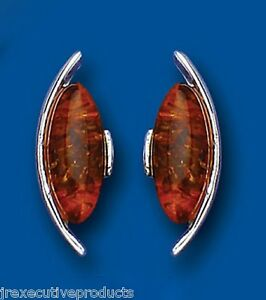 Image Is Loading Amber Earrings Silver Stud Natural Studs Solid
