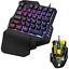 7 Color RGB Backlit USB Mouse /& Gaming Keyboard Keypad Single Hand for PC Laptop