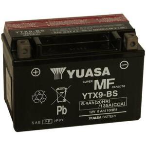 BATTERIA-YUASA-YTX9-BS-CON-ACIDO-A-CORREDO-SUZUKI-600-GSF-Bandit-1995-2004