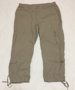 The-North-Face-Pants-Crop-Womens-12-Khaki-Tan-Cargo-Nylon-Hiking-Packable-Jogger