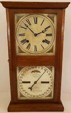 Antique Working 1875 ITHACA Double Dial Walnut Calendar Mantel Clock E.N. Welch