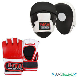 Boxing Gloves   Focus Pads Set MMA,Sparring Punch Bag,Muay Thai Training Glove