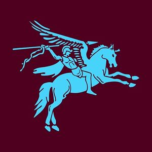 5 Airborne Brigade Pegasus Right Facing Vinyl Decal / Sticker ( 75mm  x 75mm )