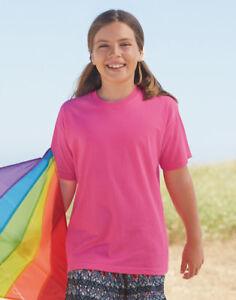 T-shirt-per-bambini-FRUIT-OF-THE-LOOM-Originale-T-shirt-100-Cotone-Ragazzi-Ragazze-SS12B