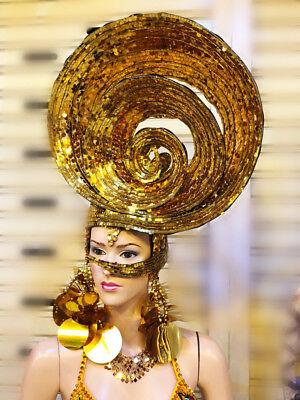 Art Da Neena H881 Shell Princess Dance Showgirl Vegas Pageant Crystal Headdress Delaying Senility