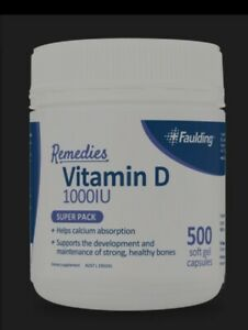 Faulding-Remedies-Vitamin-D-1-000-IU-500-Soft-Gel-Capsules-AU-FAST-POSTAGE