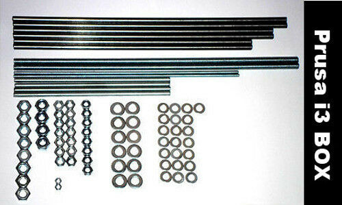 Steel Smooth Threaded Rods Nuts - Prusa i3 BOX Reprap 3D printer stainless iron