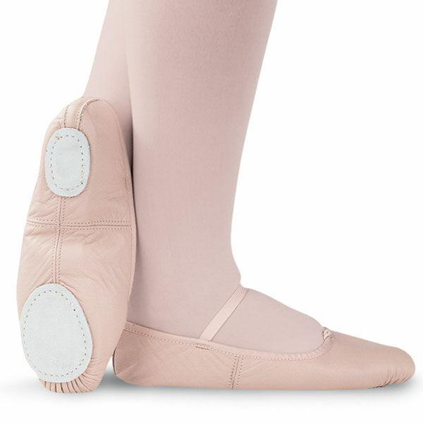 NEW Capezio CG2002 Ballet Pink Split Sole Leather Ballet Child thru Adult sizes