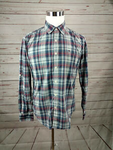 34ae3dcd Tommy Hilfiger Custom Fit Men's Long Sleeved Button Front Plaid ...